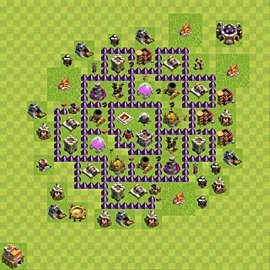 Base plan Town Hall level 7 for farming (variant 107)