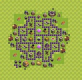 Base plan Town Hall level 7 for farming (variant 11)