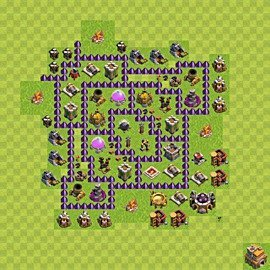Base plan Town Hall level 7 for farming (variant 110)