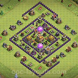 Base plan TH7 (design / layout) with Link for Farming 2020, #111