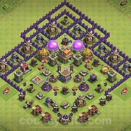 Base plan TH7 Max Levels with Link for Farming 2020, #112
