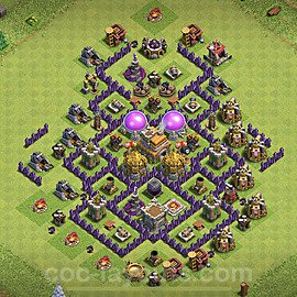 Base plan TH7 Max Levels with Link for Farming 2020, #113