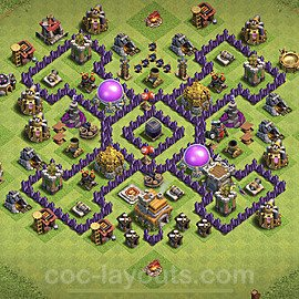 Base plan TH7 Max Levels with Link for Farming 2020, #116