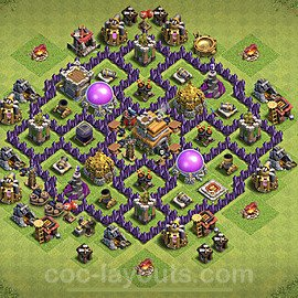 Base plan TH7 (design / layout) with Link for Farming 2020, #117