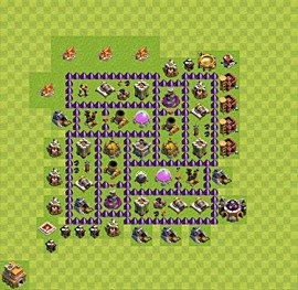 Base plan Town Hall level 7 for farming (variant 12)