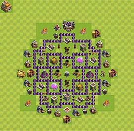 Base plan Town Hall level 7 for farming (variant 13)