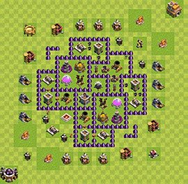 Base plan Town Hall level 7 for farming (variant 16)