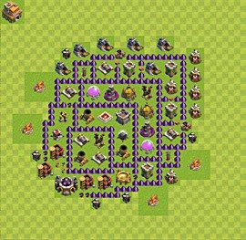 Base plan Town Hall level 7 for farming (variant 17)