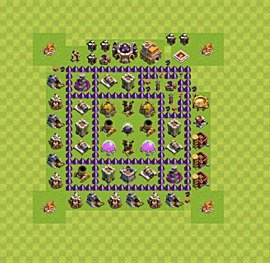 Base plan Town Hall level 7 for farming (variant 18)