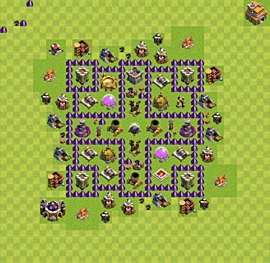 Base plan TH7 (design / layout) for Farming, #2