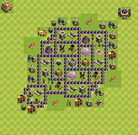 Base plan Town Hall level 7 for farming (variant 23)