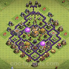 Base plan TH7 (design / layout) with Link for Farming 2020, #230