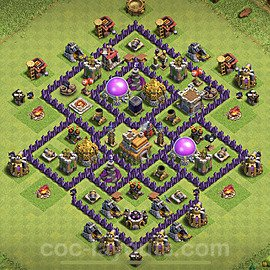 Base plan TH7 Max Levels with Link for Farming 2021, #232