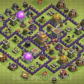 Base plan TH7 Max Levels with Link for Farming 2021, #233