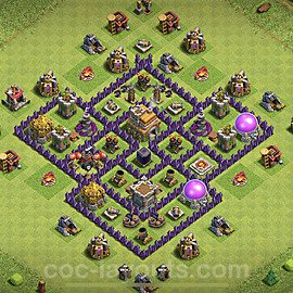 Base plan TH7 (design / layout) with Link for Farming 2021, #234