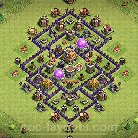 Base plan TH7 Max Levels with Link for Farming 2021, #236