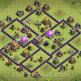 Base plan TH7 Max Levels with Link for Farming 2021, #237