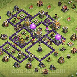 Base plan TH7 Max Levels with Link for Farming 2021, #239