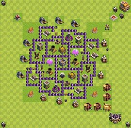 Base plan Town Hall level 7 for farming (variant 24)