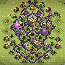Base plan TH7 Max Levels with Link for Farming 2021, #240
