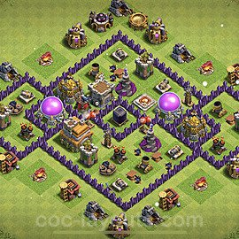 Base plan TH7 Max Levels with Link for Farming 2021, #241