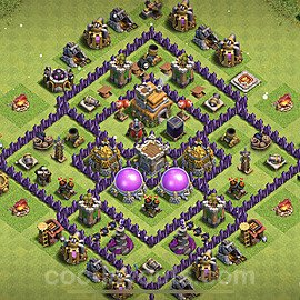 Base plan TH7 Max Levels with Link for Farming 2021, #242