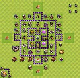 Base plan Town Hall level 7 for farming (variant 25)