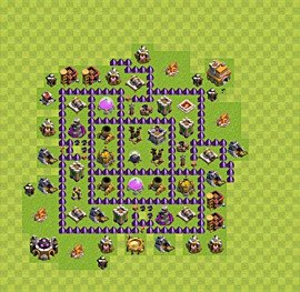Base plan Town Hall level 7 for farming (variant 27)