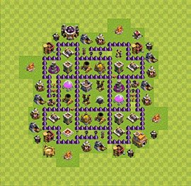 Base plan Town Hall level 7 for farming (variant 29)