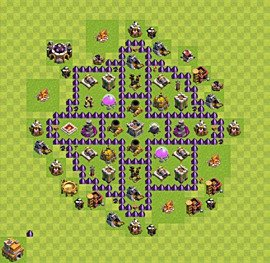 Base plan TH7 (design / layout) for Farming, #3