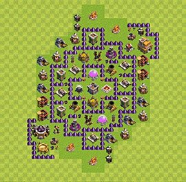 Base plan Town Hall level 7 for farming (variant 30)