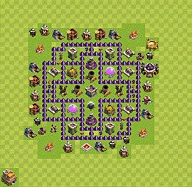 Base plan Town Hall level 7 for farming (variant 31)