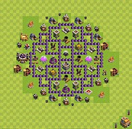 Base plan Town Hall level 7 for farming (variant 33)