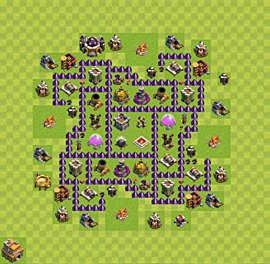 Base plan Town Hall level 7 for farming (variant 34)