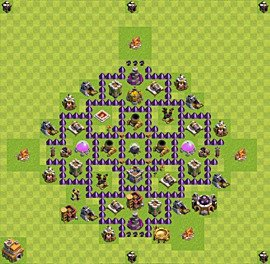 Base plan Town Hall level 7 for farming (variant 35)
