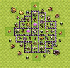 Base plan Town Hall level 7 for farming (variant 36)