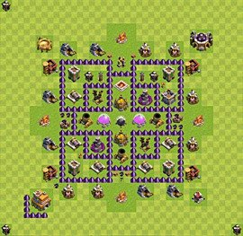 Base plan Town Hall level 7 for farming (variant 37)