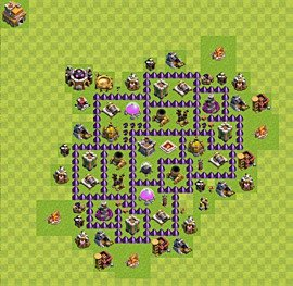 Base plan Town Hall level 7 for farming (variant 38)