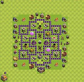 Base plan Town Hall level 7 for farming (variant 39)