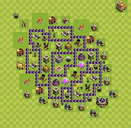 Base plan Town Hall level 7 for farming (variant 40)
