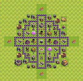 Base plan Town Hall level 7 for farming (variant 43)