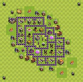 Base plan Town Hall level 7 for farming (variant 44)