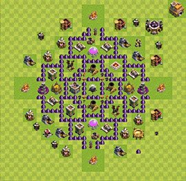 Base plan Town Hall level 7 for farming (variant 45)