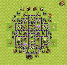 Base plan Town Hall level 7 for farming (variant 47)
