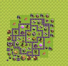 Base plan Town Hall level 7 for farming (variant 48)