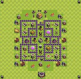 Base plan Town Hall level 7 for farming (variant 49)