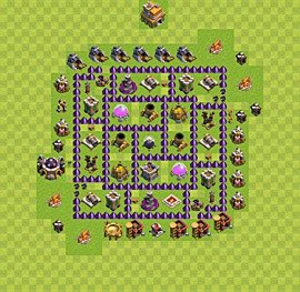 Base plan TH7 (design / layout) for Farming, #5