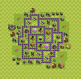 Base plan Town Hall level 7 for farming (variant 50)