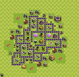Base plan Town Hall level 7 for farming (variant 51)