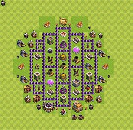 Base plan Town Hall level 7 for farming (variant 52)